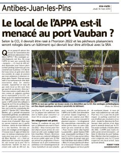 Article de Nice-Matin du 14 Mars 2019